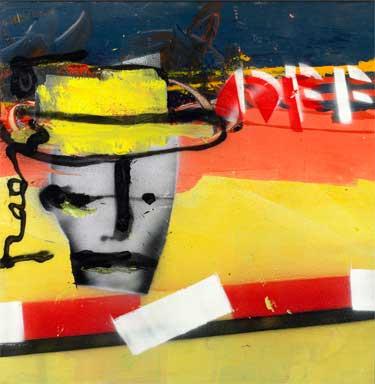 Herman + Xandra 1/2 painting by Herman Brood