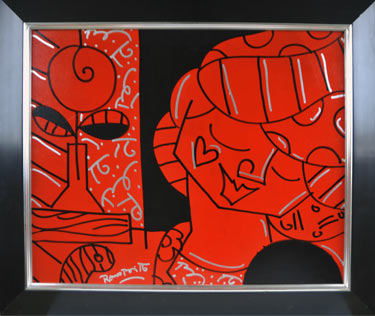 The Tulip (2004) painting by Romero Britto