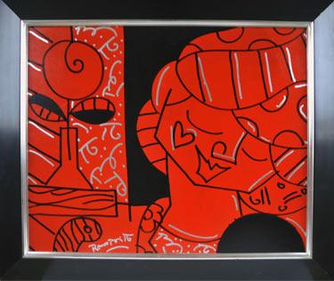 The Tulip (2004) schilderen door Romero Britto