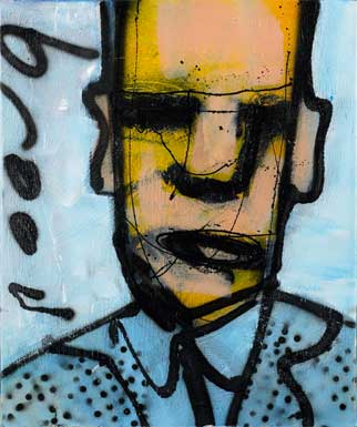Coach painting by Herman Brood
