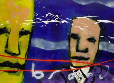 Effe Praten painting by Herman Brood