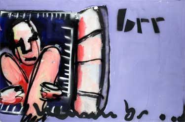 Brrr painting by Herman Brood