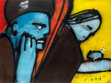 Oh God Oh God (1995) painting by Herman Brood
