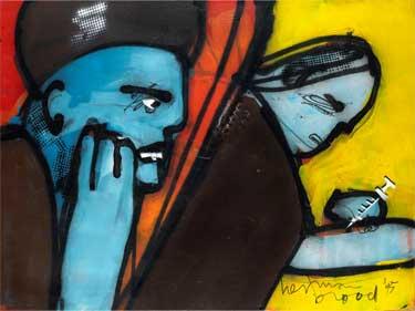 Oh God Oh God (1995) schilderen door Herman Brood