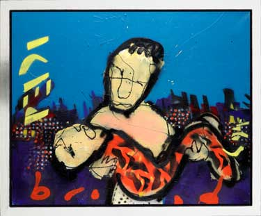 Iced painting by Herman Brood