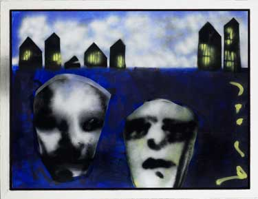 Going to the city painting by Herman Brood