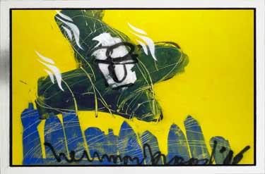 Crashing Plane painting by Herman Brood