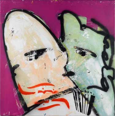 In love painting by Herman Brood