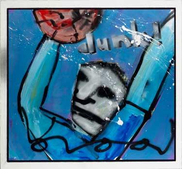 Dunk schilderen door Herman Brood