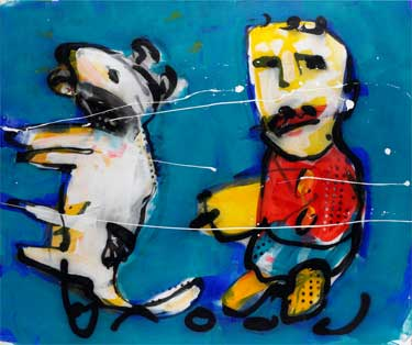 Who let the dogs out painting by Herman Brood