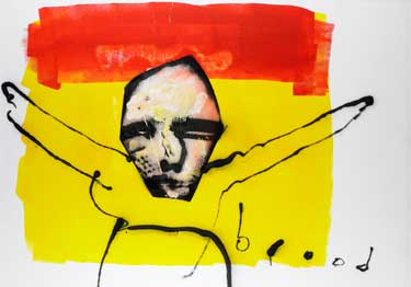 Take me to the cross (1998) painting by Herman Brood