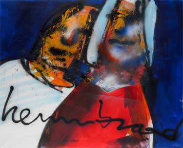 Man and Woman (1998) schilderen door Herman Brood