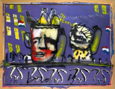 The People (1989) painting by Herman Brood