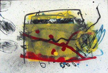 Broodrooster painting by Herman Brood