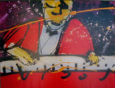 Me (1998) painting by Herman Brood