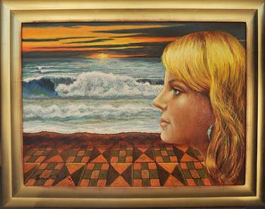 Saskia (2005) schilderen door Alfons Saura