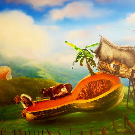 Si lo piensas, lo tienes painting by Justo Amable