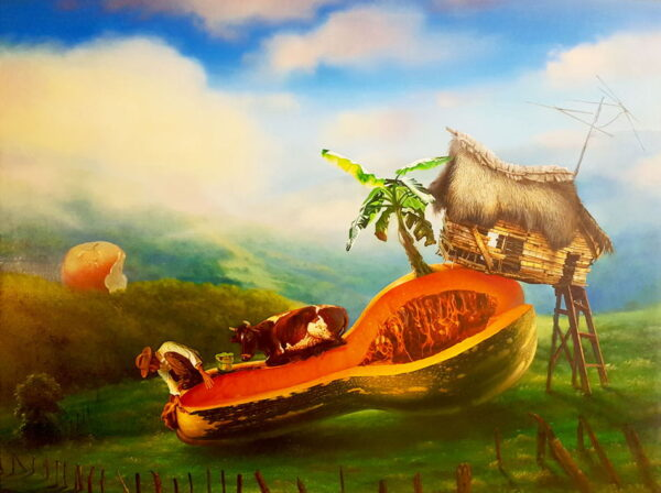 Si lo piensas, lo tienes schilderen door Justo Amable