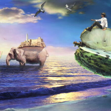 La migracion aun painting by Justo Amable