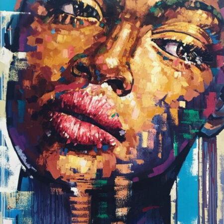 Inspirado por la vida de Mandela painting by Maikel Bello