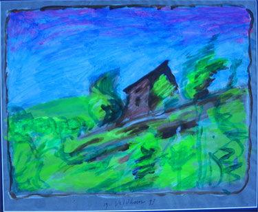Landscape (1993) painting by Aat Veldhoen