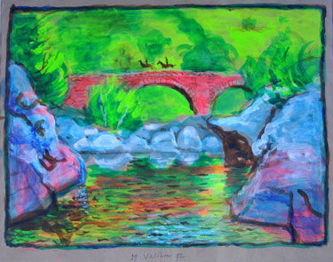 River-View (1992) painting by Aat Veldhoen