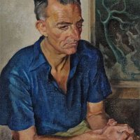 Painting in color of Dolf Breetvelt